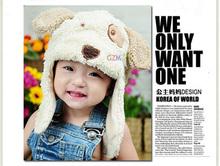 Hot Sale,Retain,1pcs!Ear Protector Cap Cartoon Puppy Dog Bear Baby Hat Winter Beanie Children hats Cute Kids Wool Cap (China (Mainland))