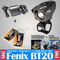 Free Shipping Fenix BT20 750LM Bike Light Bicycle Lantern + 2 x Fenix 18650 + Fenix ARE-C1 Charger Including Car Adapter