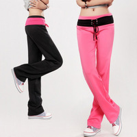 Daily casual lacing mere loin sports pants straight pants female trousers fitness
