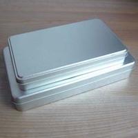 Silver rectangle tin scrub plain tin gift tin box tank storage box packaging box