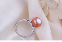 2014 Fashion Brief New Style Adjustable Trendy Rings Natural Freshwater Pearls Best Gifts For Girl Rings Freeshipping Whosesale