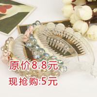 Rose crystal horseshoers buckle plate hairpin banana clip balls bud head hair accessory