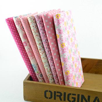 """7 шт. 50 см x 50 см """" Pink Girl """" хлопчатобумажные швейные ткани жир Quaters расслоение лоскутное стежка ткани тильда ткань основной качество 001#"""