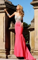 E0761 Fashio mermaid crystal beaded body heavy beaded evening dresses