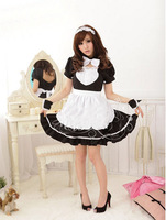 New 2015 Sexy Costumes The New Maid Outfit Anime Cosplay Party Dress Bow Uniform Temptation Maid Nightclub dress up clothes