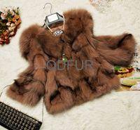 2014 Newest  Autumn Women's Genuine Natural Fox Fur Coat Jacket Winter Women Fur Outerwear Coats QD60420