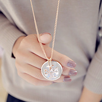 Accessories cat-eye tb design long necklace female long necklace accessories pendant short design