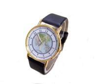 New Arrive 3 colors High Quality world Map Watch Women Men fashion dress Quartz Wristwatches ma-2