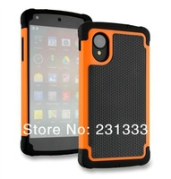 For LG Nexus 5 E980 Hybrid 3 in 1 Football PC silicone combo Dual Color ballistic hard case heavy duty rugged cases 1pcs