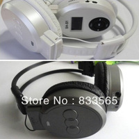 Free shipping  FM Radio TF Card Sport MP3 Player LCD Foldable Wireless Headphone Headset T0696
