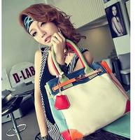NEW Satchel PU LEATHER Candy colors handbag Cross body LADIES SHOULDER bags Tote