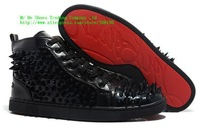 Hot sale 2014 men spike flat boots, flat red bottom men shoes