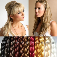 women's Synthetic Hair Band Plait Elastic Bohemia Braids Hairband Headband free shipping SFD037