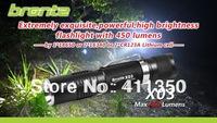 wholesale freeshipping 2 piece/lot   bronte X03  CREE XM-L U2 450  Lumen LED Flashlight torch