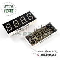 "Free Shipping  CPS04045AR or CPS04042AR is the same Common Cathode 4Bit Digital Tube 7 segment 0.4"" Red LED Display 10PCS/LOT"