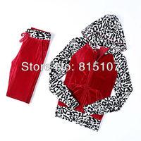 2014 casual sportswear set new arrival women  high Quality Velvet  Tracksuits  korean sportswear brand #2158
