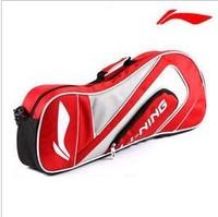 Promotion 1 Piece New Original professional Lining Badminton Racket Bag for 3 pieces racket knapsack Badminton Bag AXJD054