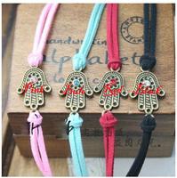 Handmade Multi Charms Bracelet Fatima Hand Turquoise Evil Eye Charm Hamsa Bracelet