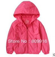 high quality water proof three colors hoody jacket two layers girls and boys simple and cute