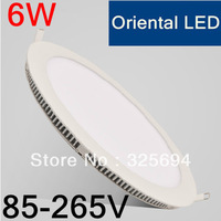 wholesale free shipping 2835 AC85-265v 6wmini led panel light 35pieces one lot CE&RoHS certificated kitchen bathroom