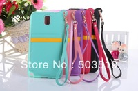 BADI Sling PU Leather Skin TPU Back Cover Case With Card Slots Function For  Samsung Galaxy Note 3 N9000
