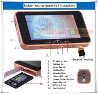 GSM peephole viewer /Door bells /Door Viewer Peephole/Video door phones intercom systems (Auto take photos or Auto video record)