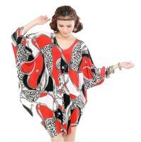 L-4XL Plus Size Casual Sexy Women Leopard  Chain Dress Print Novelty Big Large 3XL 4XL XXL XXXL XXXXL XXXXXL 2014 New Summer