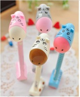 FREE SHIPPING 5 PCS /1 LOT Creative neutral pen South Korea stationery cute ass neutral pen office with base