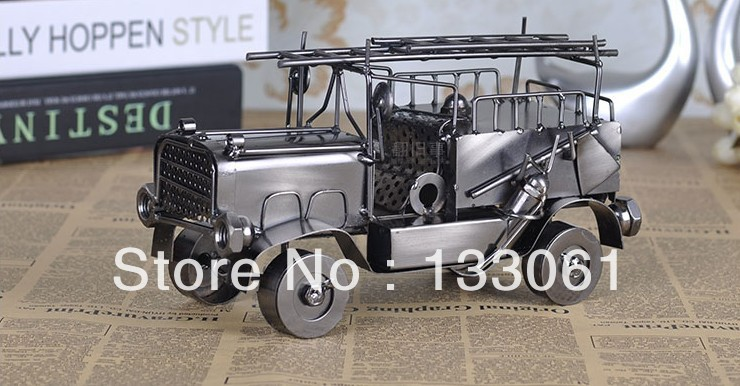 CRS-50 Free shipping Handmade home decorations creative decoration The iron vintage car model antique vintage cars(China (Mainland))