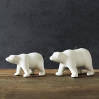 European home furnishings ceramic unglazed ceramic mother polar bear suit Home Decor Crafts lovely bear