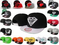 Spike  Diamond Snapback hat hip hop cap adjustable baseball cap bboy
