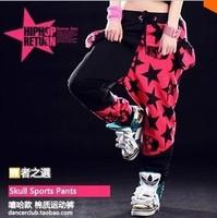 Free Shipping 2014 NEW Hip hop pants Patchwork candy Hiphop Sports pants Punk pants