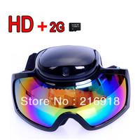 HD 720p Ski Sport glasses video camera Goggles Sunglasses DVR cam + 2GB TF Card