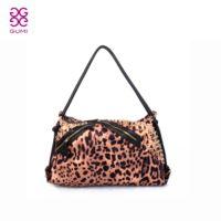 Gumi 2013 rivet bag leopard print handbag large capacity cloth female handbag  =Bsr505