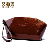 Freeshipping new  2014 female patent leather fashion all-match japanned leather day clutch coin purse  women handbags
