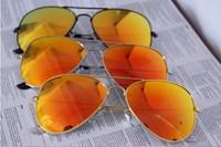 Fashion Classic Vintage Metal RB 3025  Aviator Driving Mirror Gradient Sunglasses