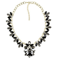 2014 torques wholesale fashion necklace J C Europe costume chunky choker crystal bib pendant  Necklaces statement jewelry women