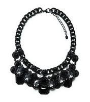 2014 torques wholesale fashion necklace Europe costume chunky choker crystal bib pendant  Necklaces statement jewelry women