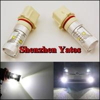 2pcs High Power 30W P13W Fog Headlight light CREE LED Turn Signal Brake Light Bulb Amber