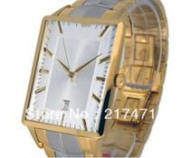 Free shipping+ wholesale! men watch quartz watch square steel belt AR2423.
