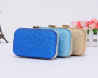Fashion  2014 Women's Handbag Dinner Retro Hard Glitter Chain Shoulder Bag Clutch 7 Colors