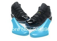 wholesale  men basketball shoes classic 11 in black and blue athletic shoes sports shoes with free shipping size 7-13