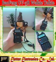 wholesale  BAOFENG UV-5R walkie talkie VHF136-174MHz & UHF400-520MHz UV5R dual band dual display 2pcs/lot free shipping