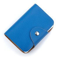 Wholesale New Fashion Cowhide Leather Credit Card Holder Unisex Solid Bussiness Genuine Leather Hasp Bank Card wallet DC29