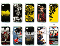 2014 Free shipping Hot 10pcs/lots New wholesale Wu Tang hard white case for iphone 5 5th 5S