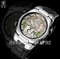 Promotioin Price OHSEN Brand Mens Alarm clock Analog Digital Sport Wrist Watch Black Nice Gift A309
