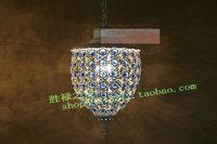 Bohemia pendant light rustic multicolour crystal pendant light bar lights stair lamp