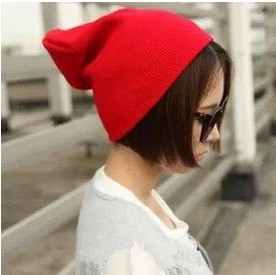 Winter & Spring Fashion Hat Men Women Adult Unisex Red color line cap Hat knitted hip-hop head cap Skullies & Beanies(China (Mainland))