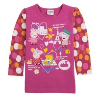 Free shipping new 2013 children t shirts autumn summer peppa pig t-shirts baby clothing  baby girl t shirts long sleeve F4306#