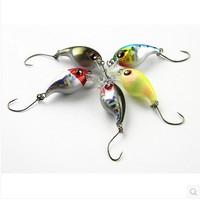 Super price,5 color 2.5CM/2G Mini Crankbait Wobbler plastic fishing lures,fishing hard bait 8pcs/lot,free shipping